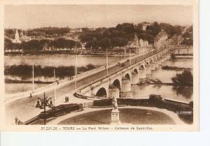 Postal 027019 : Tours. Le Pont Wilson - Coteaux de Saint-Cyr