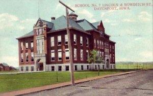 SCHOOL NO. 7 BOWDITCH ST. DAVENPORT, IA 1908