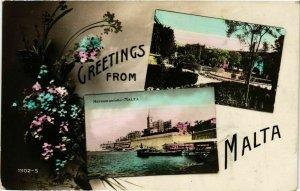 CPA AK MALTA-Greetings from Malta (320197)