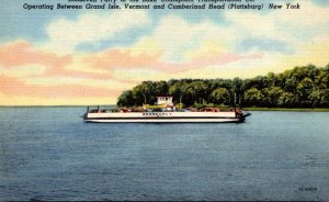 New York Roosevelt Ferry Of The Lake Champlain Transportation Company Curteich