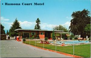Ramona Court Motel Vancouver BC Burnaby Pool Unused Vintage Postcard D66