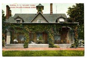 NY - Elmira. Quarry Farm, Mark Twain's Summer Home