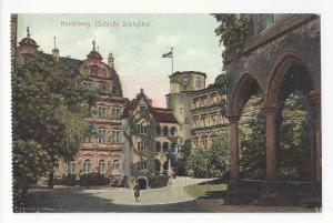 Germany Heidelberg Schloss Schlosshof Fischer Krmaer Postcard Vintage c 1910