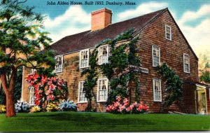 Massachusetts Duxbury John Alden House Built 1653