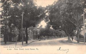 Lock Haven Pennsylvania Main Street Antique Postcard J51873