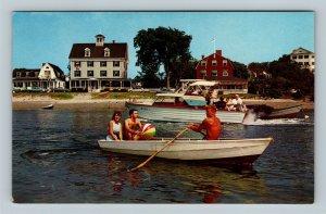 Kennebunkport ME, The Sommerlyst, Riverside, & Arundel, Chrome Maine Postcard