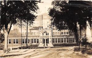 Kansas Ks Real Photo RPPC Postcard 1917 HARPER School Building Jennings Studio