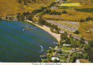 Canada Aerial View Kalamalka Beach Vernon British Columbia