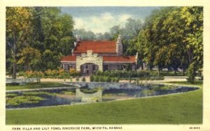 Park Villa & Lily Pond, Riverside Park - Wichita, Kansas KS