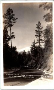 RPPC MESCALERO INDIAN RESERVATION, NM  WHITE MT from DARK CANYON 1939  Postcard