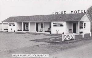 Canada Nova Scotia Wallace Bridge Bridge Motel Real Photo RPPC