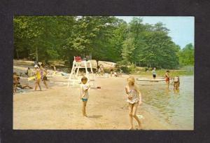 RI Beach Burlingame State Park and Campground,Charlestown, RHODE ISLAND Postcard