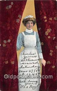 Nurse Its a boy Postcards Post Cards Old Vintage Antique Its a boy Nurse