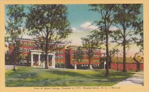 North Carolina Winston Salem View Of Salem College Founded 1771