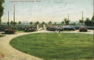 Longfellow Park Cambridge MA c1909 Vintage Postcard E3
