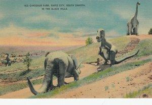 RAPID CITY , South Dakota , 1930-40s ; Dinosaur Park