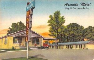 Arcadia Louisiana Arcadia Motel Roadside America Vintage Postcard JJ649376