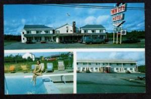 ME Twin City Motel Motor Inn BREWER MAINE Postcard PC