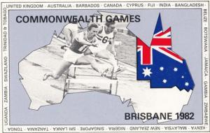 Brisbane Commonwealth Games 1982 Limited Edition Australian 500 Postcard