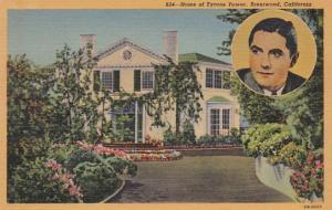 California Brentwood Home Of Tyrone Power Curteich