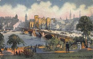 Prince's Bridge, Melbourne, Australia, Early Postcard, unused