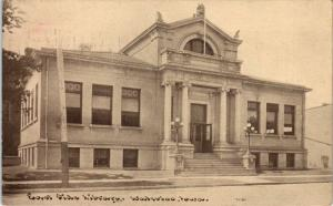 WATERLOO, IA Iowa      EAST SIDE LIBRARY      1912     Postcard