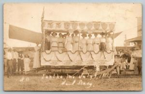 Iantha Missouri~Smith Long Lumber Co 4th of July Parade Float~Ladies~1911 RPPC