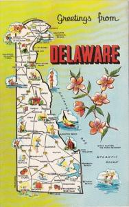 Greetings From Delaware With Map