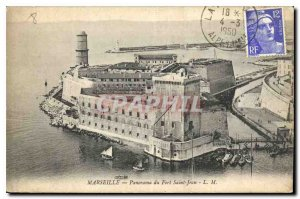Old Postcard Marseille Panorama Fort St. John