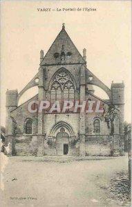 Old Postcard Varzy The church Portal