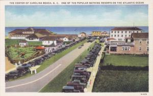 The Center Of Carolina Beach, Popular Bathing Resorts On The Atlantic Ocean, ...