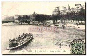 Paris - 1 - View of the Seine - Ile Saint Louis - Old Postcard