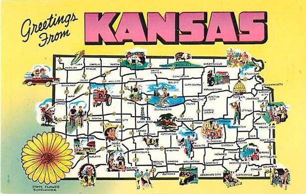 Search KANSAS MAP HipPostcard - Kansas state map