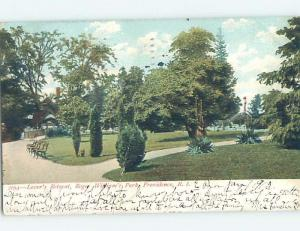 Pre-1907 PARK SCENE Providence Rhode Island RI H4186