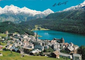Switzerland St Moritz Totalansicht