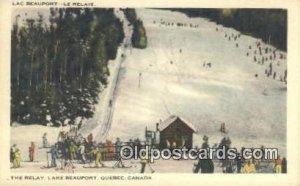 Lac Beauport Le Relais, Quebec, Canada Ski, Skiing Unused