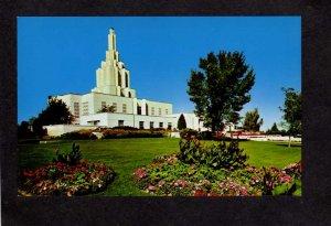ID Latter Day Saints Temple Idaho Falls Postcard Mormon