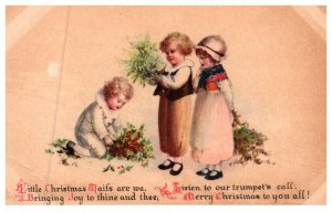 Christmas , Children with Flowers