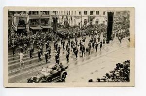 Atlanta GA Shriners Parade Store Fronts Signed Yaarab RPPC Real Photo Postcard