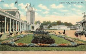 Postcard Electric Park Kansas City Missouri