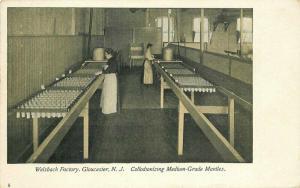 Advertising Gloucester New Jersey Welsbach Factory Interior Postcard 3363