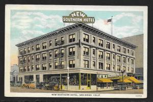 New Southern Hotel Outside View San Diego CA Used c1930