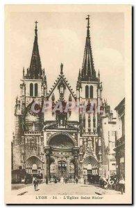 Old Postcard Lyon Eglise St Nizier