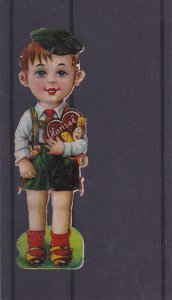 Paper Cutout, Hansel holding heart-shaped box of chocolates and candy, 00-10s