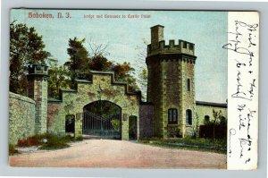 Hoboken NJ-New Jersey, Entrance To Castle Point, Vintage c1907 Postcard