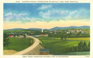 Chapman Highway approaching Sevierville, Tennessee, unuse...
