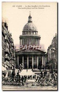 Paris Old Postcard La Rue Soufflot and the pantheon