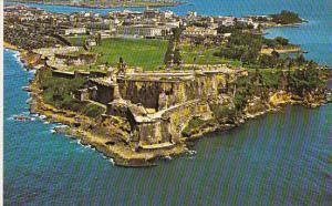 Puerto Rico San Juan Aerial View of El Morro Castle