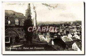 Postcard Old Ruin Valkenburg puts Panorama