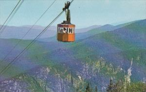 New Hampshire Franconia Notch Tram Car & Eagle Cliff Cannon Mountain Aerial T...